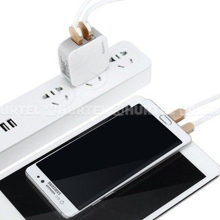Baseus Letour ładowarka sieciowa zasilacz EU adapter do telefonu 2x USB 2.4A biała (ZCL2B-B02)