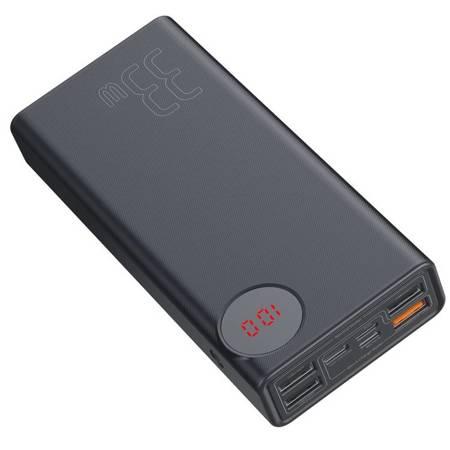 Baseus Mulight power bank 30000 mAh z wyświetlaczem LCD Power Delivery PD3.0 Quick Charge QC3.0 33W czarny (PPMY-01)