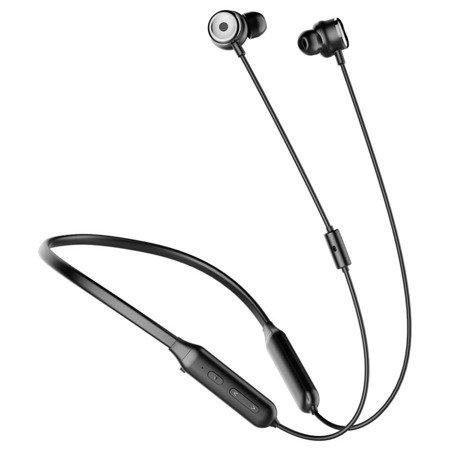 Baseus SIMU S15 dokanałowe bezprzewodowe słuchawki Bluetooth 4.2 z aktywną redukcją szumów ANC (Active Noise Control) czarny (NGS15-01)