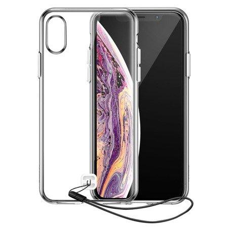 Baseus Transparent Key usztywnione etui z żelową ramką iPhone XS / X przezroczysty (WIAPIPH58-QA02)