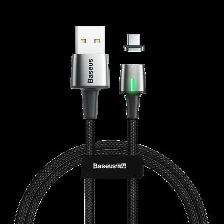 Baseus Zinc magnetyczny kabel USB / USB Typ C 1m 3A czarny (CATXC-A01)