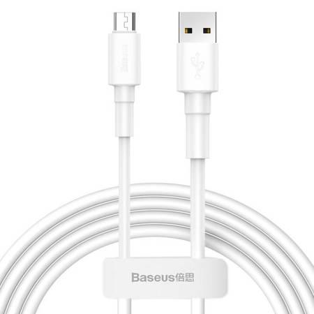 Baseus wytrzymały przewód kabel USB / micro USB 2.4A 1m biały (CAMSW-02)