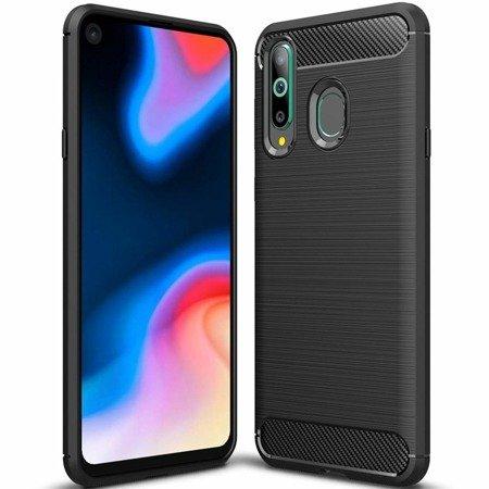 Carbon Case elastyczne etui pokrowiec Huawei Honor 20 Lite czarny