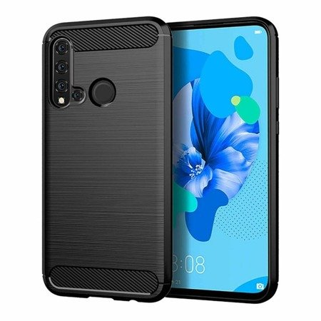 Carbon Case elastyczne etui pokrowiec Huawei P20 Lite 2019 / Huawei Nova 5i czarny