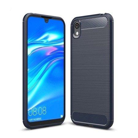 Carbon Case elastyczne etui pokrowiec Huawei Y5 2019 / Honor 8S niebieski