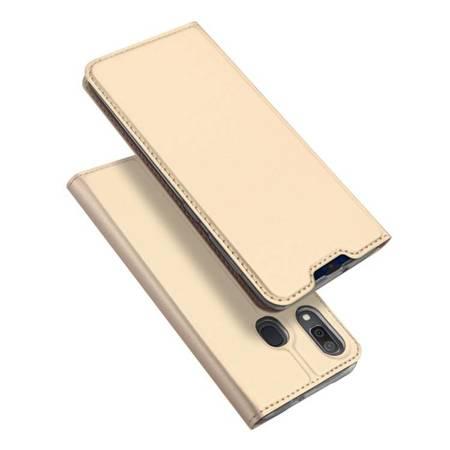 DUX DUCIS Skin Pro kabura etui pokrowiec z klapką Samsung Galaxy A20e złoty
