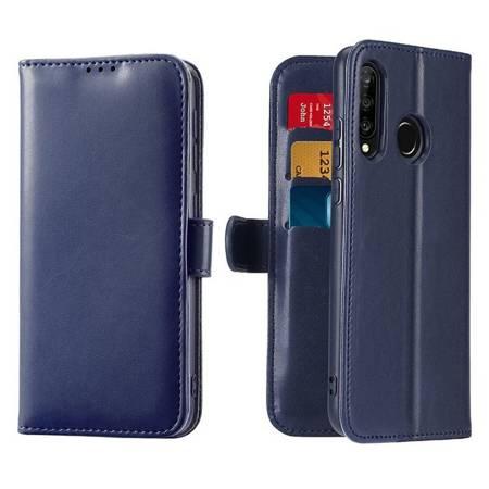 Dux Ducis Kado kabura etui portfel pokrowiec z klapką Huawei P30 Lite niebieski