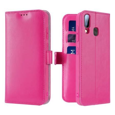 Dux Ducis Kado kabura etui portfel pokrowiec z klapką Samsung Galaxy A40 różowy