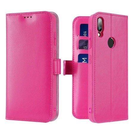 Dux Ducis Kado kabura etui portfel pokrowiec z klapką Xiaomi Redmi Note 7 różowy