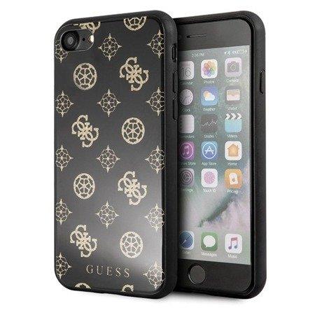 Etui Guess GUHCI8TGGPBK iPhone 7/8 czarny /black hard case Peony G Double Layer Glitter
