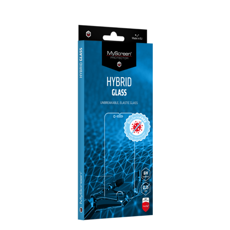 Evolveo StrongPhone G5 - Antybakteryjne szkło hybrydowe MyScreen HYBRID GLASS BacteriaFREE