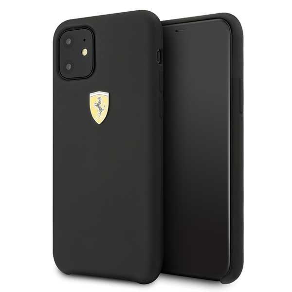 Ferrari Hardcase FESSIHCN61BK iPhone 11 czarny/black Silicone
