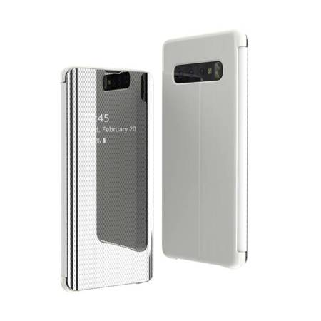 Flip View futerał etui z klapką Samsung Galaxy S10 Plus srebrny