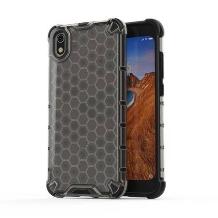Honeycomb etui pancerny pokrowiec z żelową ramką Xiaomi Redmi 7A czarny