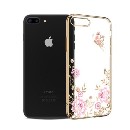Kavaro Butterfly Series etui ozdobione oryginalnymi kryształami Preciosa iPhone 8 Plus / 7 Plus złoty