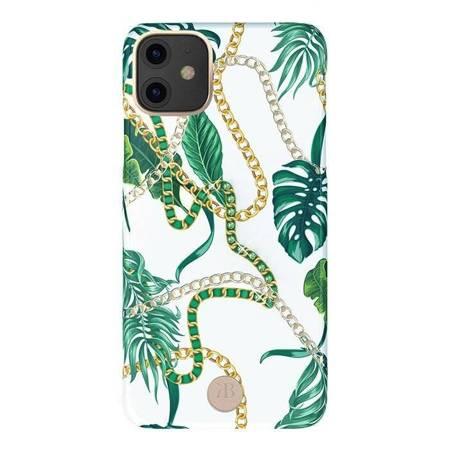 Kingxbar Luxury Series etui ozdobione oryginalnymi Kryształami Swarovskiego iPhone 11 zielony