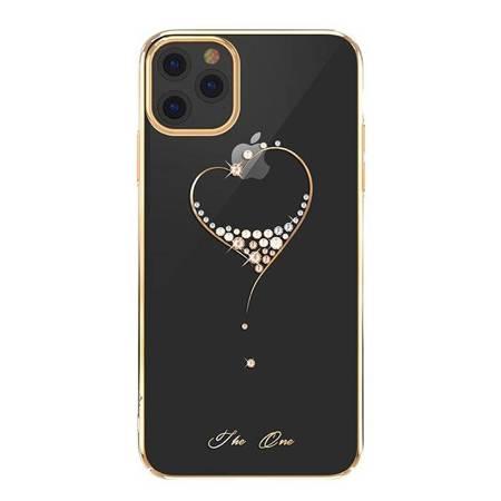 Kingxbar Wish Series etui ozdobione oryginalnymi Kryształami Swarovskiego iPhone 11 Pro Max złoty