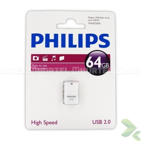 Philips Pendrive USB 2.0 64GB - Pico Edition (fioletowy)