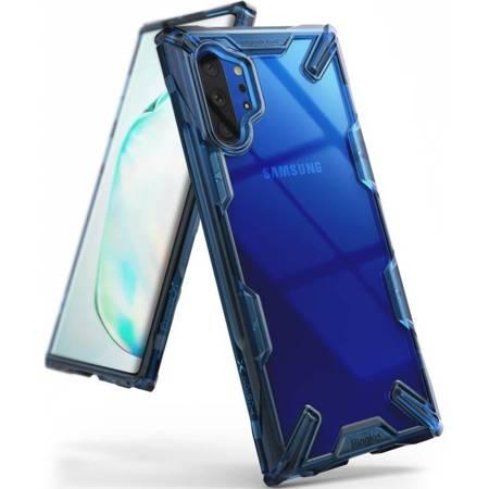 Ringke Fusion X etui pancerny pokrowiec z ramką Samsung Galaxy Note 10 Plus niebieski (FUSG0030)
