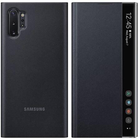 Samsung Clear View Standing Cover futerał etui z inteligentną klapką Samsung Galaxy Note 10 Plus czarny (EF-ZN975CBEGWW)