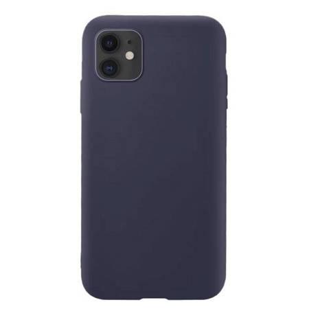 Silicone Case elastyczne silikonowe etui pokrowiec iPhone 11 ciemnoniebieski