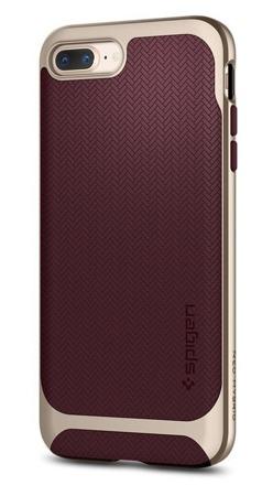 Spigen Neo Hybrid Herringbone żelowe etui z ramką iPhone 8 Plus / 7 Plus czerwony (Burgundy)