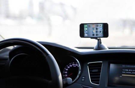 Uniwersalny uchwyt samochodowy na telefon czarny