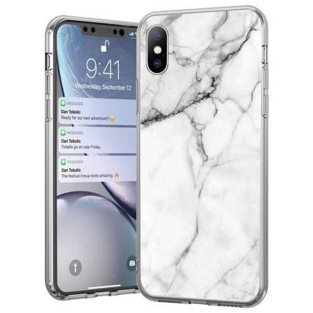 Wozinsky Marble żelowe etui pokrowiec marmur Samsung Galaxy A50s / Galaxy A50 / Galaxy A30s biały
