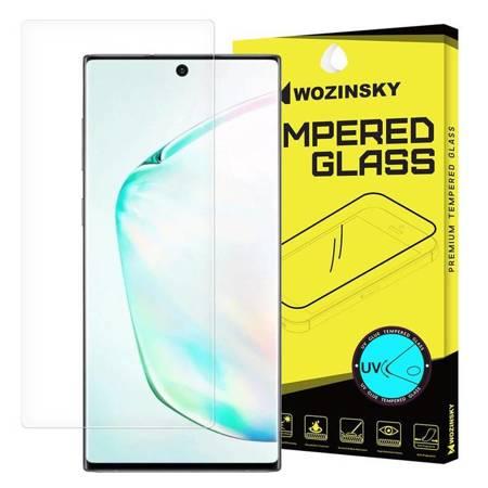 Wozinsky Tempered Glass UV szkło hartowane UV 9H Samsung Galaxy Note 10 (in-display fingerprint sensor friendly) - szkło bez kleju i lampki LED