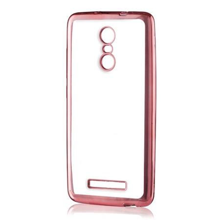 Żelowy pokrowiec Metalic Slim Xiaomi Redmi Pro różowy
