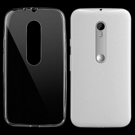 Żelowy pokrowiec etui Ultra Slim 0,3 mm Motorola Moto G 3rd Gen przezroczysty