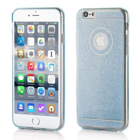 Żelowy pokrowiec etui błyszczący Glitter Huawei Ascend G7 niebieski
